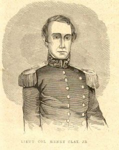 Henry Clay Jr. is shown here in his Mexican War Uniform.