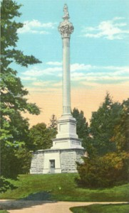This postcard shows the Henry Clay Monument at Lexington Cemetery.