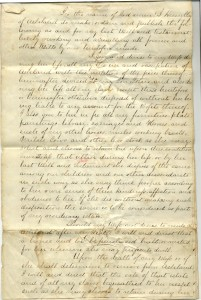This is the first page of the copy of Henry Clay's will that he had made for his son John M. Clay. This copy is in the Josephine Russell Clay Collection at the University of Kentucky.